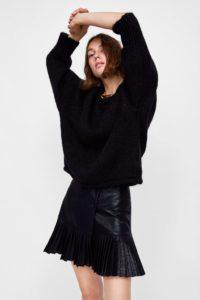Zara leathe skirt