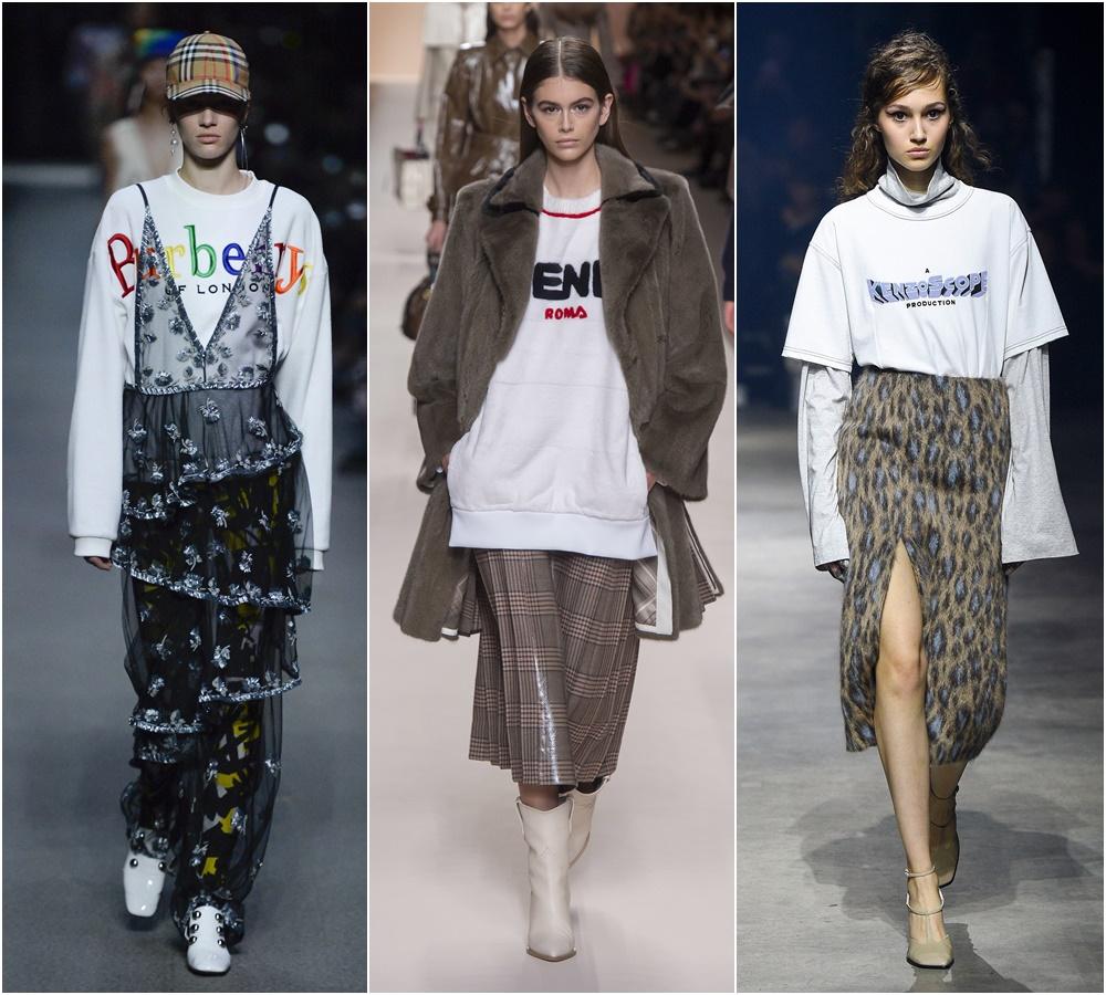Slogan sweatshirt trend
